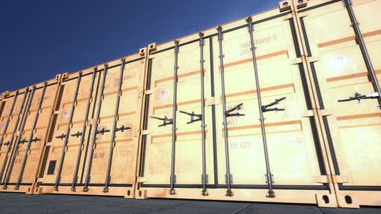 Cover Image for Empty Shipping Container Doors Opening