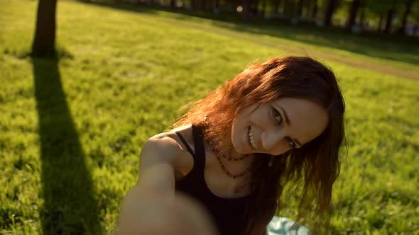 Thumbnail for Young Attractive Woman Making Selfie on the Smartphone
