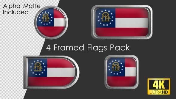 Thumbnail for Georgia State Flag Framed