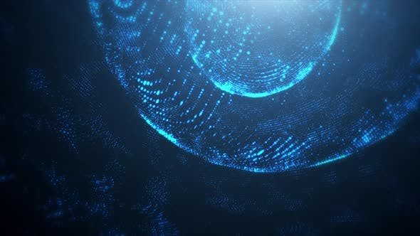 Thumbnail for Abstract Blue Technology Motion Background