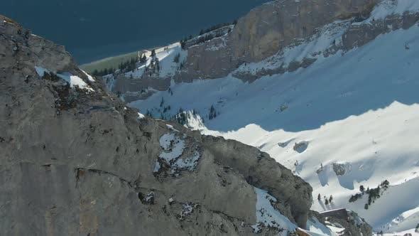 Thumbnail for Mountain Rocky Ridge. Swiss Alps, Switzerland. Aerial View