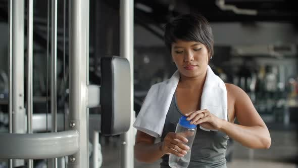 Thumbnail for Woman after Training in Gym