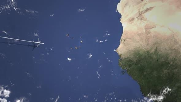 Thumbnail for Flugzeug Fliegen nach Dakar Senegal auf der Karte