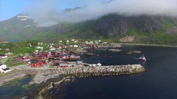 Thumbnail for Fishing port on Lofoten islands in Norway