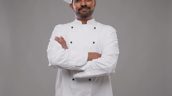 Thumbnail for Happy Male Indian Chef in Toque