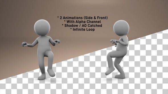 Stick Figure Tip Toe Walk - 2 Pack
