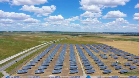 Cover Image for Solar Panels Aerial View