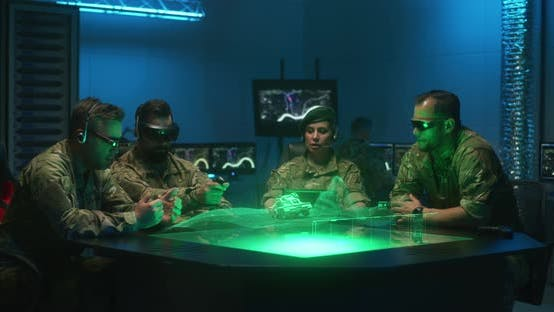 Thumbnail for Soldiers Remote Controlling Unmanned Ground Vehicle
