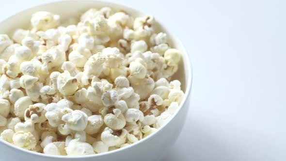 Thumbnail for Popcorn in a Bowl on Wooden Desk