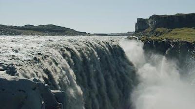 Impressive Powerful Dettifoss Waterfall Iceland Europe