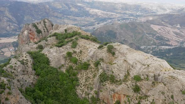 Aerial view of Tre Pizzi Mount in Calabria, Italy.