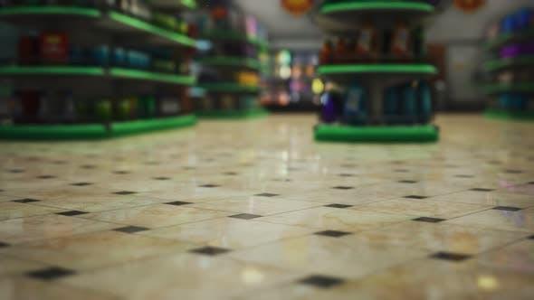 Covid19 Epidemie und leerer Supermarkt