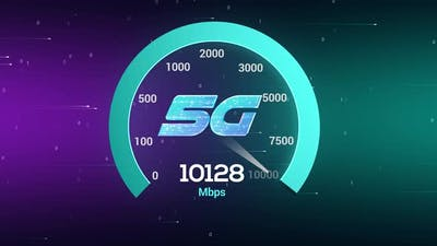 Hi Speed 5g speed test Network Technology 10gbps speed meter