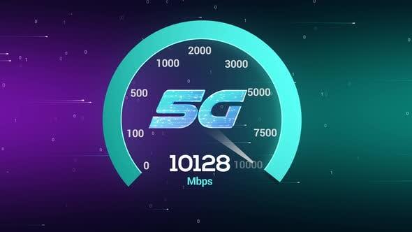 Hochgeschwindigkeits-5g-Geschwindigkeitstest Netzwerktechnologie 10 Gbit/s Geschwindig