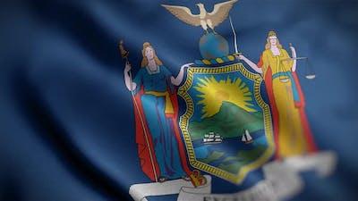 New York State Flag Angle