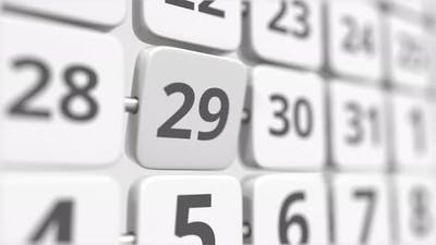 29 Date on the Turning Calendar Plate