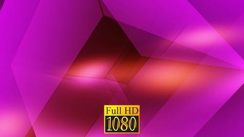Background Cubic Crimson HD