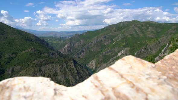 Beautiful Nature and River View of Matka Canyon, Skopje, Macedonia