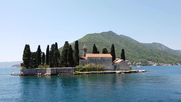 Thumbnail for Natural Islet with Saint George Benedictine Monastery. Kotor Bay. Montenegro
