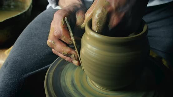 Thumbnail for Potter Makes Clay Vase