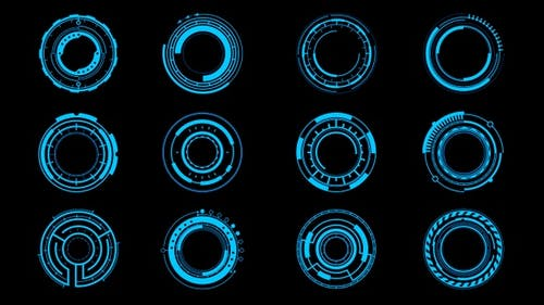 12 HUD Circles Pack 01