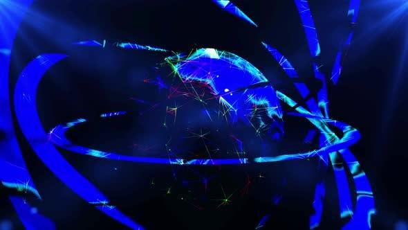 Abstract Futuristic Globe