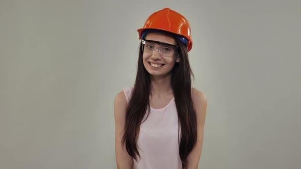 Thumbnail for Portrait Beautiful Model Wearing Safety Uniform