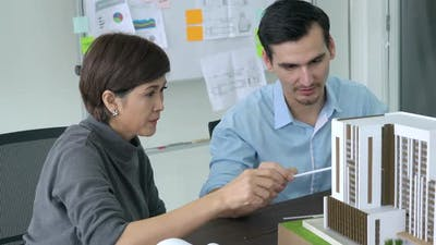 Architects design building model