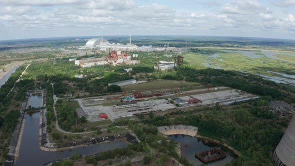 Cover Image for Drone Shot of Chernobyl Nuclear Power Plant