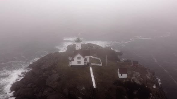 Maine Usa Nubble Lighthouse 4k