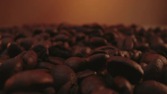 Coffee Beans Lying in a Pack