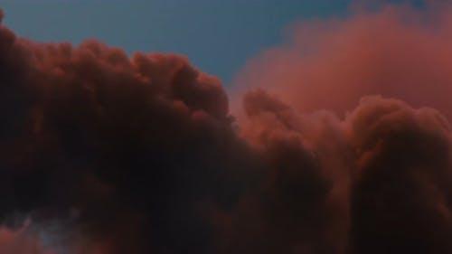 Scarlet Martian Clouds