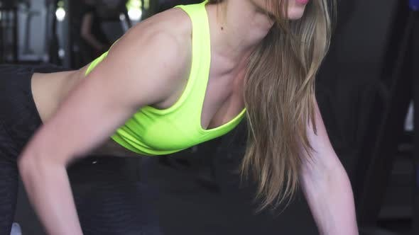 Thumbnail for Stunning Athletic Woman Lifting Weights at the Gym