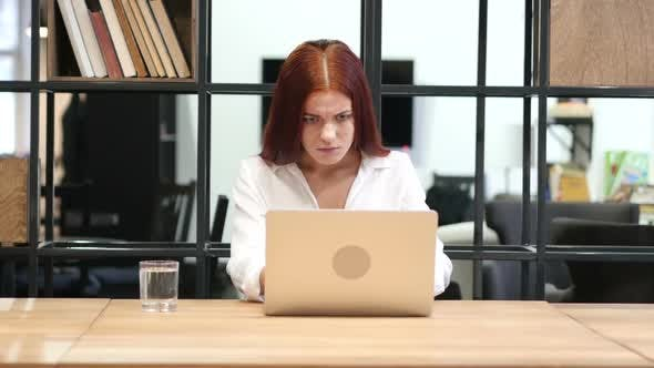 Cover Image for Success, Successful Woman Working on Laptop