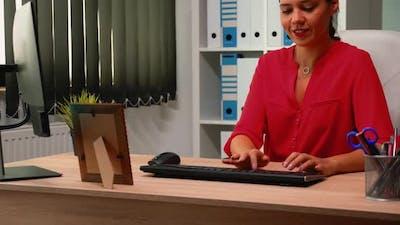 Woman Working at Job