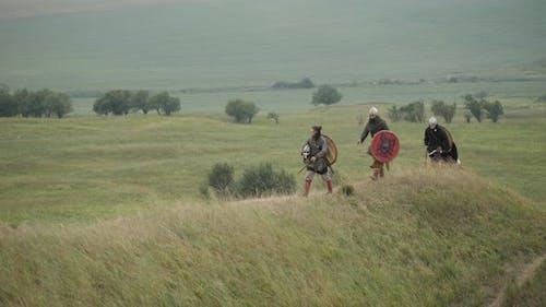 Vikings going uphill