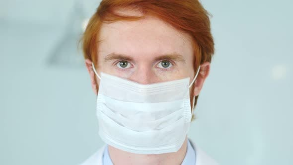 Thumbnail for Redhead Research Scientist, Doctor in Mask