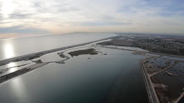 Thumbnail for Flying Above The Bolsa Chica Basin State Marine Conservation Area In Huntington Beach Ca