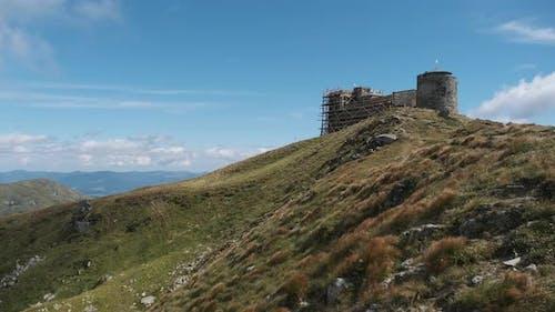 Abandoned Observatory White Elephant on the Top of Mount Pop Ivan Chernogorskiy.