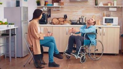 Handicapped Man in Wheelchair