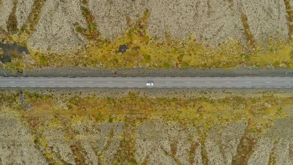 Thumbnail for Aerial View Of Car Driving The Road