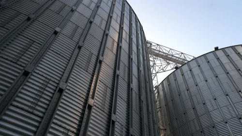 Stainless Steel Grain Bins, Up View