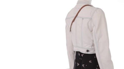 Mannequin in Denim Jacket Turning
