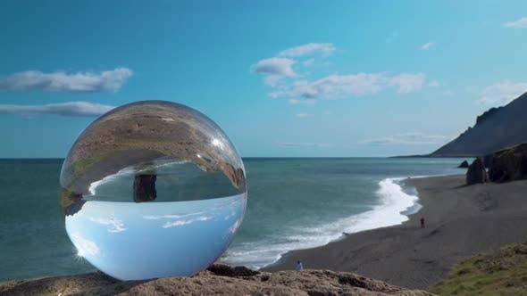 Thumbnail for Sea and Beach View Through a Glass Ball