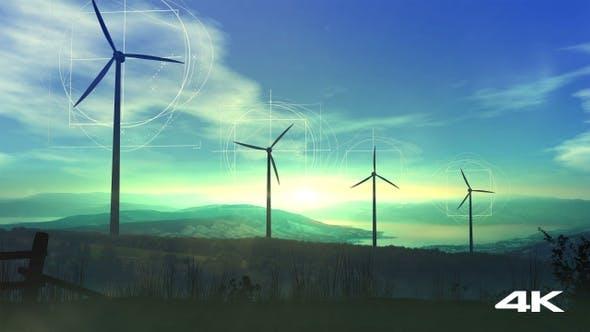 Thumbnail for Windkraftanlagen und grüne Energie 4K