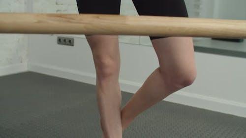 Sporty Fit Woman Doing Yoga Tree Pose on Balance Cushion