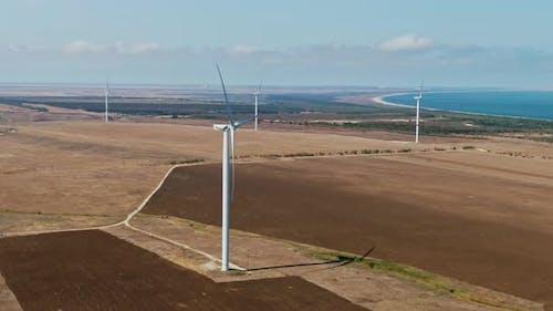 Wind Turbine Renewable Energy, Sustainable Development, Environment Friendly Concept