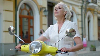 Woman on a Scooter.