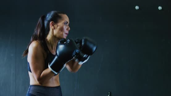 Thumbnail for Woman Boxing in the Gym