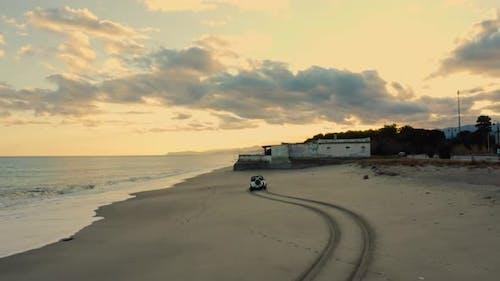 White Car on the beach